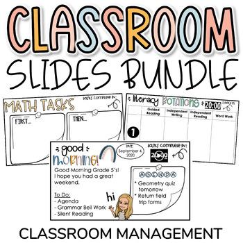 Class Slides Digital Bundle for Classroom Management & Distance Learning