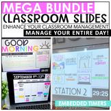 Class Slides with Timers Bundle | Editable | Classroom Management