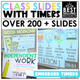 Distance Learning Class Slides with Timers | Classroom Management