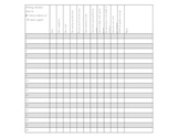 Class Spreadsheet How To Writing Checklist