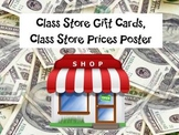 Class Store Gift Cards, Class Store Prices Poster
