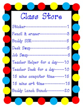 Class Store Poster