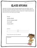 Class Store (making change activity)