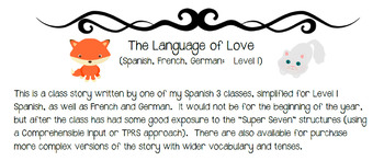 TPRS or CI Class Story, Language of Love in Spanish, French, German