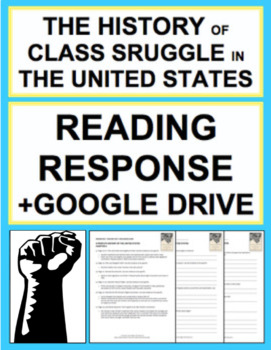 Class Struggle in America Nonfiction Reading Response, Answer Key + Google Doc