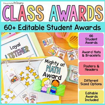 Class Student Awards & Brag Tags EDITABLE