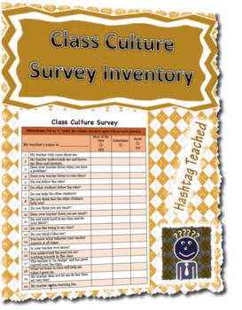 Class & Student Culture Survey Inventory