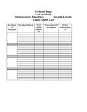 Class Student Split List