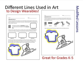 Art Worksheets with Modified Learning