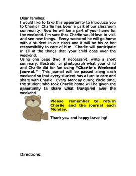 Class Stuffed Animal Letter