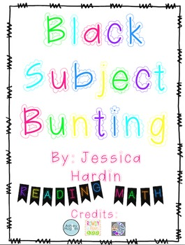 Class Subject Bunting- Black