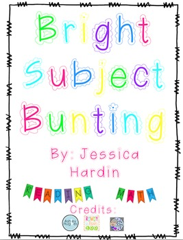 Class Subject Bunting- Bright Color