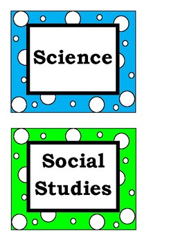 Class Subject Labels