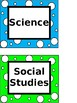 Class Subject Labels (Black & White/Colored)-EDITABLE