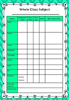 Mark book - Class, Subject and Reading Trackers