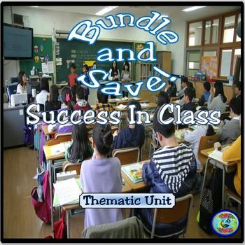 Class Success Thematic Unit Bundle - Cómo tener éxito en clase