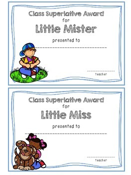 Class Superlative Award