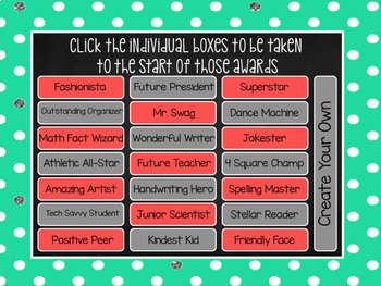 End of the Year Awards-Class Superlatives {EDITABLE}