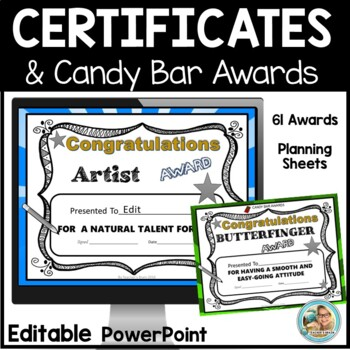 superlatives awards  End of the Year Awards Certificates EDITABLE - Candy Awards ...