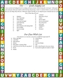 Class Supply List for Beginning of Year