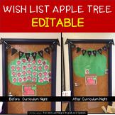 Class Supply Wish List Apples - {EDITABLE} - Great for Meet the Teacher Day