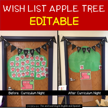 Class Supply Wish List Apples - {EDITABLE} - Great for Mee