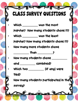 Class Survey Farm Animals Anchor Chart