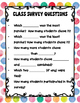 Class Survey Farm Animals Anchor Chart