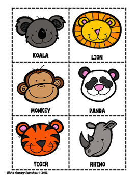 Class Survey Zoo Animals Anchor Chart