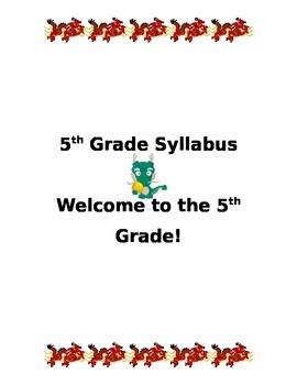Class Syllabus - Asian Dragon Theme