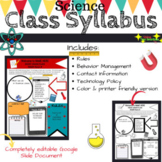 Class Syllabus, Editable