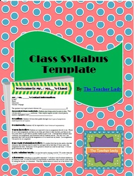 Class Syllabus Template - For All Subjects