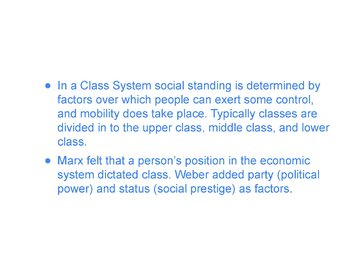 Class System PowerPoint, Guided Notes, and Completed Notes