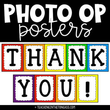 thank you photo op posters free by teaching in the tongass tpt