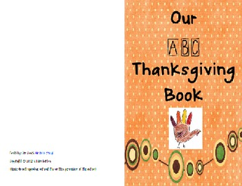 Class Thanksgiving ABC Book