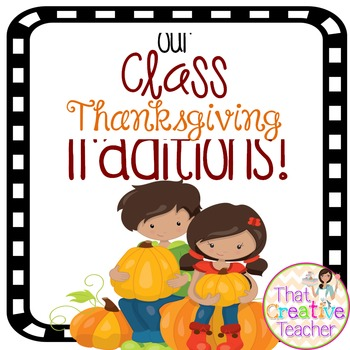 Class Thanksgiving Traditions Book