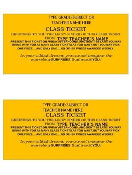 Class Tickets