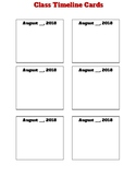 Class Timeline Cards