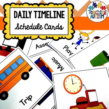 Autism Schedule Cards with Symbols