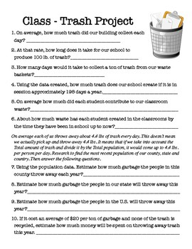 Class Trash Project