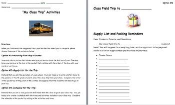 Class Trip Activity Packet