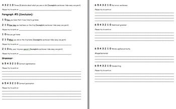 Class Trip Essay Peer-Editing Rubric