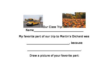 Class Trip Journal