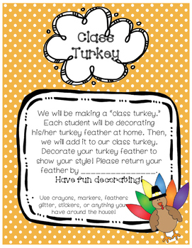 Class Turkey Feather Project