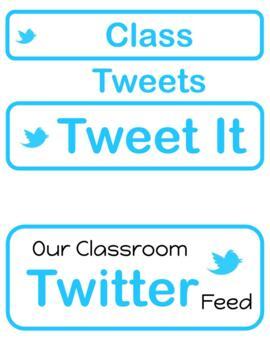 Class Twitter Pack - Start of School Year