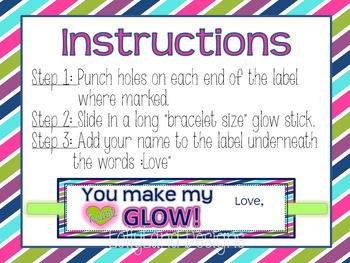 Class Valentine Gift Labels-Glow Stick