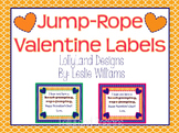 Class Valentine Gift Labels-Jump Rope