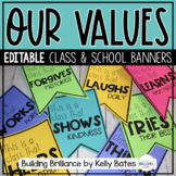 Class Values Banners - Community Character Building Display