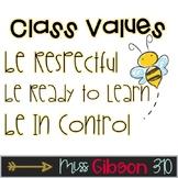 Class Values - Bees and Bitmojis (editable)