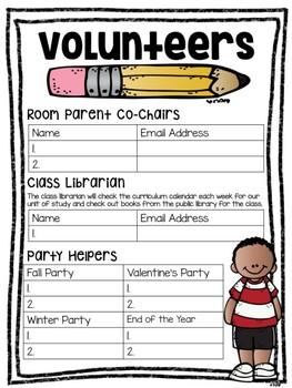 Parent Volunteer Forms